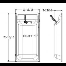 Quam Ceiling Tile Speaker 1' x 2' 70V (Micro-Perf White)