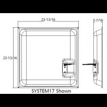 Quam Ceiling Tile Speaker Black 70.7V (Pig-Tail Lead)