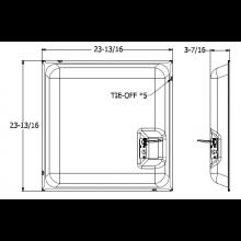 Quam Ceiling Tile Speaker System 2' x 2' 70V (Micro-Perf White)