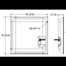 """Quam Ceiling Tile Speaker 24"""" x 24 with Volume Control (Black)"""