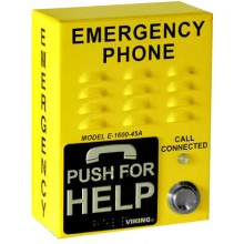 Bright Yellow ADA Compliant Emergency Call Box
