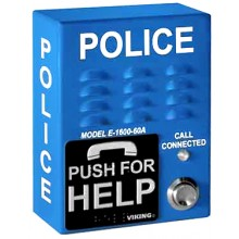 Police Emergency  Outdoor Phone Call Box with Built In Dialer/Announcer