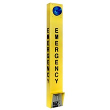 Outdoor Emergency Call Box Tower and Strobe Light