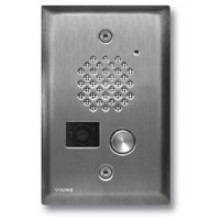 Brushed Stainless Steel Compact Entry Phone w/ Color Video Camera with Enhanced Weather Protection