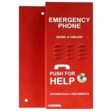 Red Emergency Call Box for Ring Down Circuit With Push to Talk