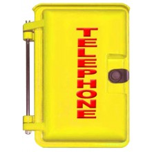 Yellow Outdoor Weather Proof Phone Enclosures