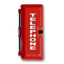 Large Red Outdoor Weather Proof Emergency Phone Enclosures