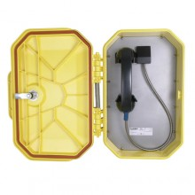 Watertight Ringdown VoIP Telephone with Armored Handset Cord