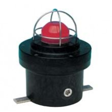 Combination Unit: Strobe, Red lens, 29 candela, 24 VDC, Black Finish