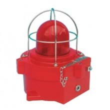 Explosion Proof Strobe with Red Lens 21 Joules, 24 VDC