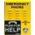 E-1600-45A Handsfree Emergency Outdoor Weatherproof Phone (Yellow) by Viking Electronics